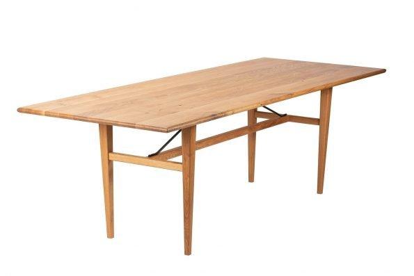 Tisch Miegampe in schräger Längsansicht