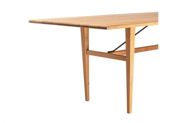 Detailfoto von Tisch Miegampe in schräger Längsansicht