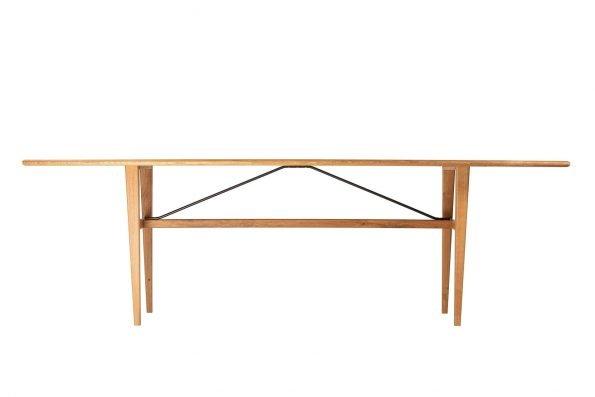 Tisch Miegampe in flacher Längsansicht