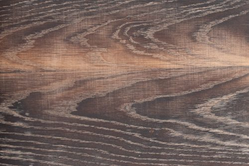 Holzoberfläche geköhlt, gewaschen