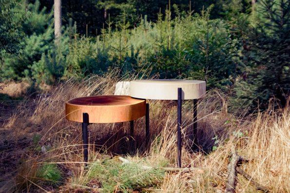 Beistelltisch Hippe aus nachhaltiger, deutscher Eiche