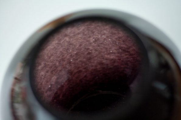 Schwarze Kugelvase Bolle aus dem SchwarzwaldKugelvase Bolle aus dem Schwarzwald