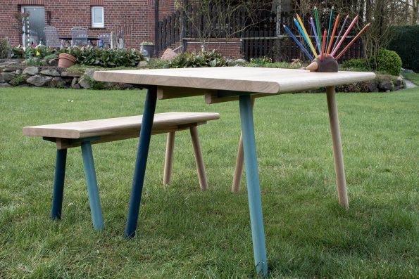 Kindertisch-Set Piepmatz in blau